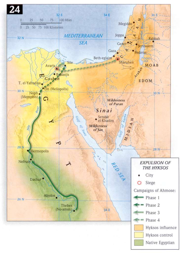 Bible Maps - Map of egypt before christ