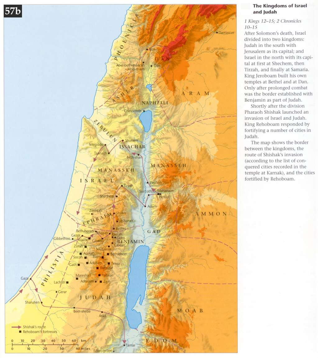 topographic map of ancient israel Bible Maps Precept Austin