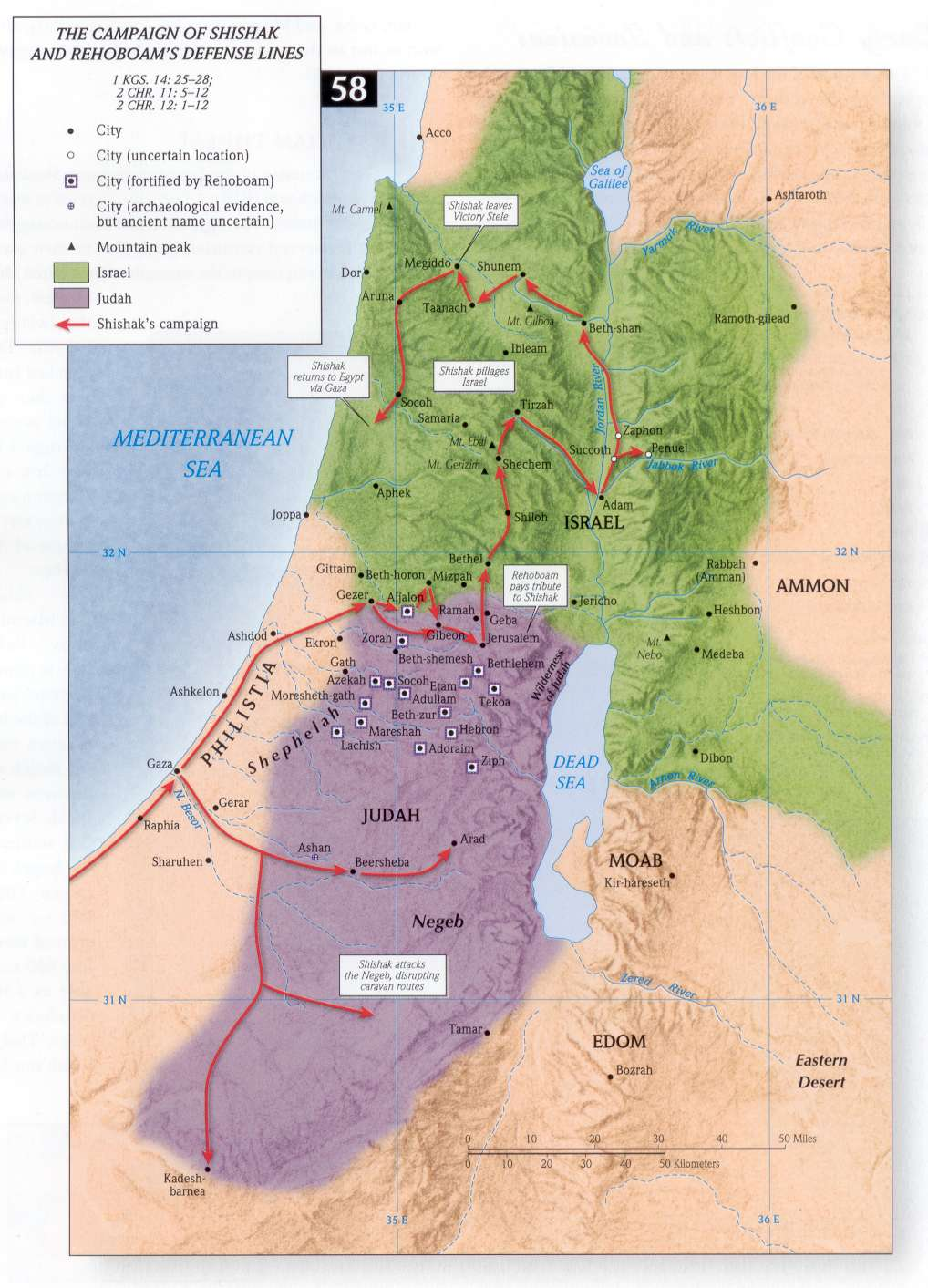 Bible Maps | Precept Austin on israel split into two kingdoms, map of ancient canaan, map of judah, map moab bethlehem judah, israel divided into two kingdoms,